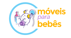 Cômoda Infantil Affetto 4 Gavetas 1 Porta 100 MDF Branco Acetinado/ Amêndoa - Planet Baby na Moveis Para Bebes
