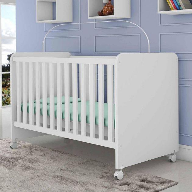 Berço Mini Cama Magia Branco Brilho - Planet Baby