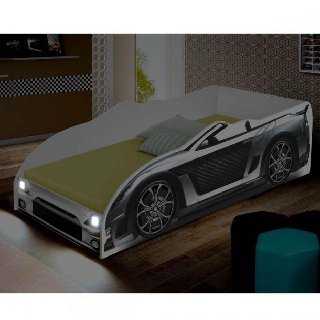 Cama Carro Infantil com Luminária de LED Juvenil Sport Divaloto Prata