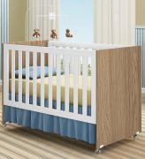 Quarto Infantil Completo Esmeralda 3 Portas e Berço Mini Cama Esmeralda na cor Wengue - Moveis Canaã