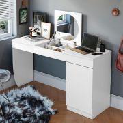 Penteadeira/ Escrivaninha Crystal Branco Fosco - Mobler