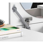 Penteadeira/ Escrivaninha Suspensa Elegance Branco Fosco - Mobler