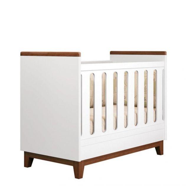 Berço Mini Cama Wood New Padrão Americano 3 x 1 Branco/Amêndoa - Planet Baby